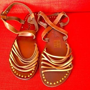 Leather Free People sandals